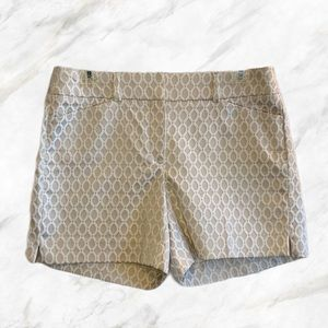 White House Black Market | White Patterned Shorts